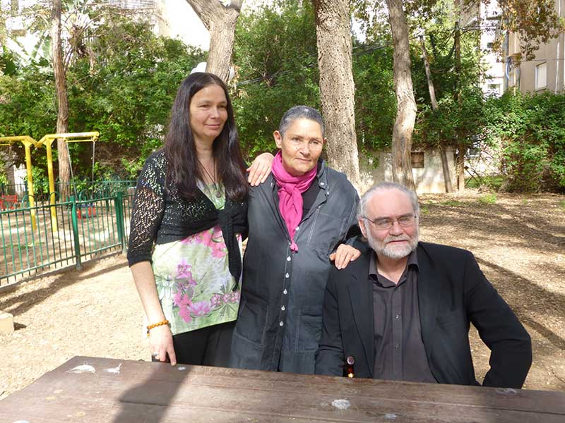 Jo Berry and Pat Magee with Robi Damelin from Parents Circle- Family Forum in Tel Aviv