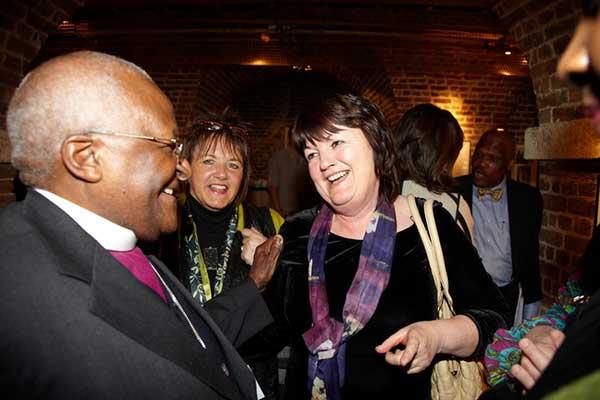 Desmond Tutu and Anne Gallagher