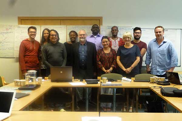 Professor Lynne Cameron and Simon Weatherbed with participants of the Empathy dynamics Workshop.