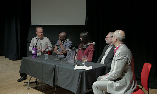 Film was followed by a panel including Jo Berry, Patrick Magee, Jean Paul Samputu and Bjorn Ihler.