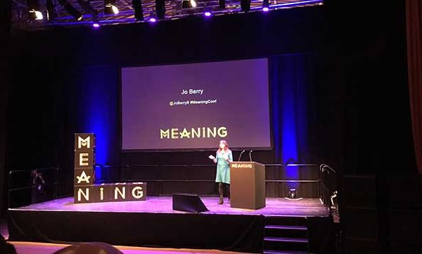 Jo Berry at Meaning Conference in Brighton